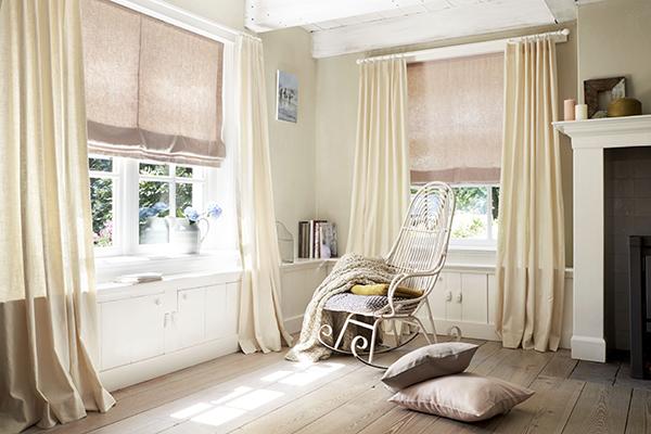 Colors@Home kamerhoge gordijnen voor een shabby chic, vintage of landelijk interieur